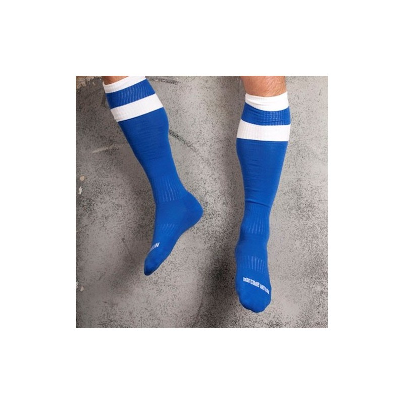 barcode chaussettes football haute bleu. Black Bedroom Furniture Sets. Home Design Ideas