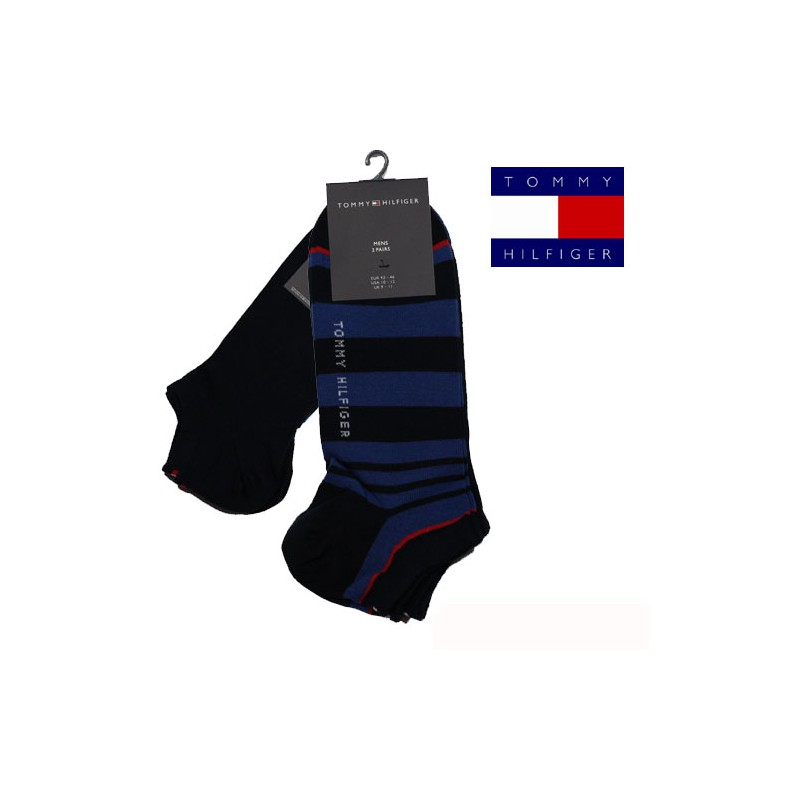 chaussette invisible pack 2 paires stripe sneal marine tommy hilfiger. Black Bedroom Furniture Sets. Home Design Ideas