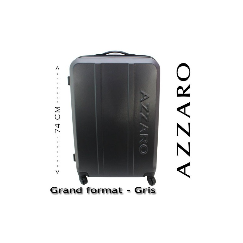 azzaro valise rigide grand format gris. Black Bedroom Furniture Sets. Home Design Ideas