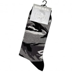 DIESEL - CHAUSSETTES CAMOUFLAGE GRIS