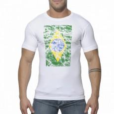 ES - TS076  TEE SHIRT COTON COL ROND BRASIL BLANC