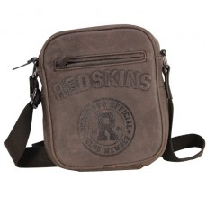 REDSKINS - PORTE CROISE XS R-UP EN CUIR MARRON