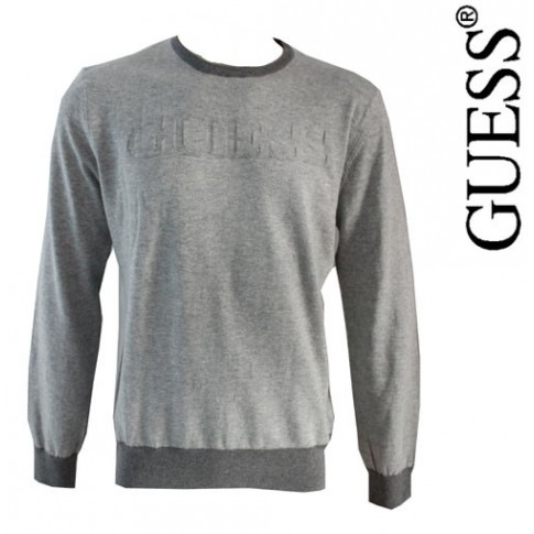 GUESS - PULL OVER FIN GRIS TENDANCE