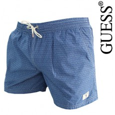 GUESS - SHORT DE BAIN STANFORD BLEU