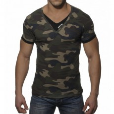 ADDICTED - AD121 T-SHIRT DOUBLE EFFET CAMOUFLAGE