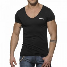 ADDICTED - AD177  T-SHIRT BASIC NOIR