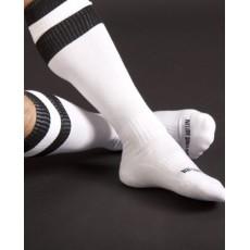 BARCODE - CHAUSSETTES FOOTBALL HAUTE BLANCHE/NOIR
