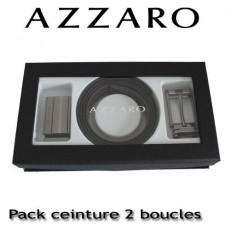 AZZARO - COFFRET CEINTURE 2 BOUCLES MODERNE ZCOF642 - 3 CM