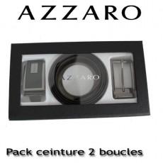AZZARO - COFFRET CEINTURE 2 BOUCLES MODERNE ZCOF646 - 3,5 CM