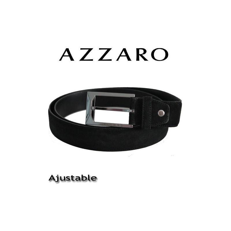 azzaro ceinture reversible en cuir de vachette boucle ardillon noir. Black Bedroom Furniture Sets. Home Design Ideas