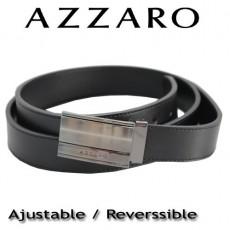 AZZARO - CEINTURE EN CUIR BOUCLE PLAQUE GRAVEE Z014134002