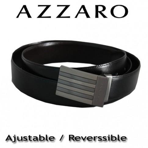 AZZARO - CEINTURE EN CUIR BOUCLE PLAQUE GRAVEE Z1391342C7
