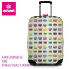 SUIT SUIT - HOUSSE DE PROTECTION VALISE - MACARONS