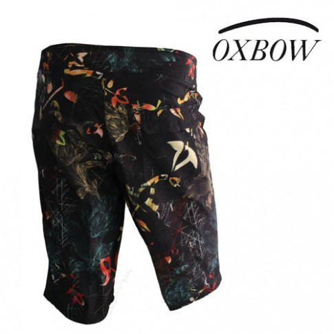 OXBOW - SHORT DE BAIN BODYSHORT FLOWER NOIR