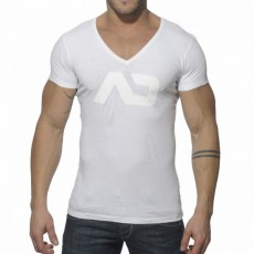 ADDICTED - AD214 T-SHIRT VINTAGE COTON BLANC