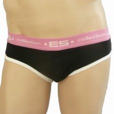 ES SLIP BRIEF ROCKY NOIR ROSE BARCELONA 198