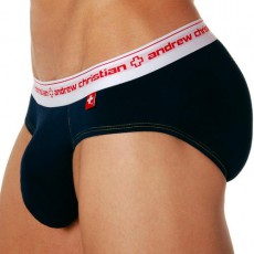 ANDREW CHRISTIAN SLIP BRIEF ALMOST NAKED NAVY