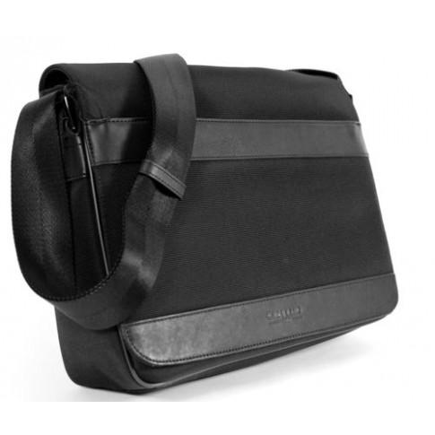chabrand grande besace a rabat rome ii toile garnie et cuir noir. Black Bedroom Furniture Sets. Home Design Ideas