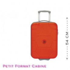 SUIT SUIT - VALISE RIGIDE CABINE CARETTA MANDARIN RED 54 CM