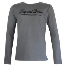 KAPORAL - T SHIRT MANCHE LONGUE YORK ANTHRACITE