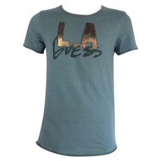 GUESS - T SHIRT COL ROND DUST GREEN