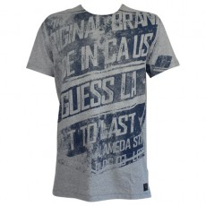 GUESS - T SHIRT COL ROND ESSENTIAL GRIS