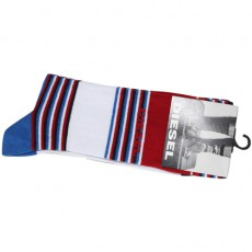 DIESEL - CHAUSSETTES A RAYURES BLEU/BLANC/ROUGE