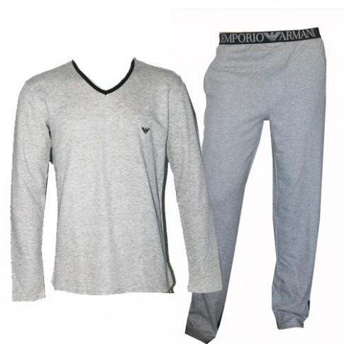 Armani tenue d 39 interieur uni gris chine for Tenue interieur
