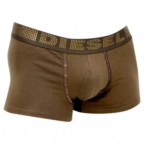 diesel boxer coton marron ceinture avec strasses metalliques. Black Bedroom Furniture Sets. Home Design Ideas