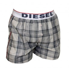 DIESEL - CALECON COTON GRIS A RAYURES