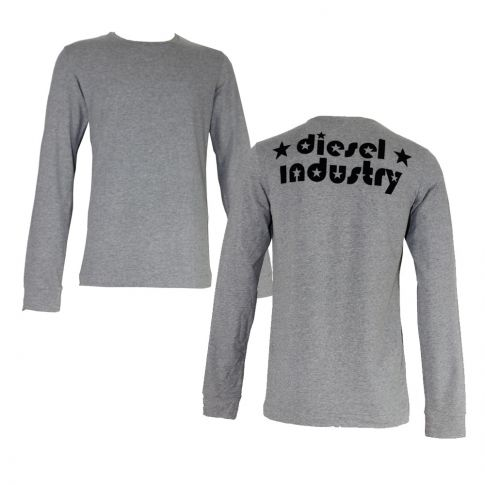 T-SHIRT MANCHES LONGUES JODY  GRIS COL ROND  DIESEL INDUSTRY