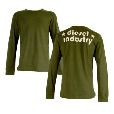 T-SHIRT MANCHES LONGUES JODY KAKI COL ROND  DIESEL INDUSTRY