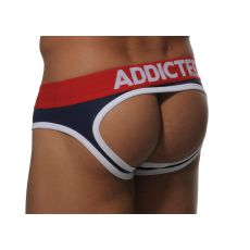 SLIP JOCK AD07 NAVY EMPTY BUTTON ADDICTED