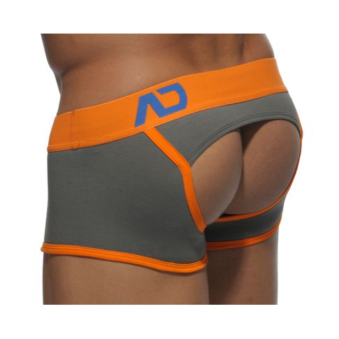 BOXER BOTTOMLESS AD279 GRIS  ADDICTED