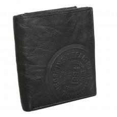 Porte-monnaie / Portefeuille format européen noir Redskins