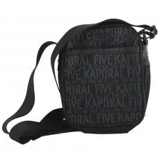 Petite besace porté croisé ligoté noir Kaporal