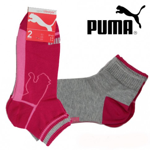 PUMA CHAUSSETTES SPORTLIFESTYLE QUARTER BEETROOT ROSE