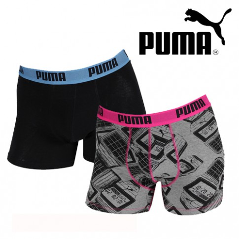 PUMA - LOT DE 2 BOXERS HOMME TIME FILES - DIZZLE ME