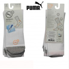 PUMA - LOT DE 2 CHAUSSETTES TECHNIQUE SPORT COOL MAX PERFORMANCE BLANCHE