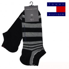 CHAUSSETTE INVISIBLE PACK 2 PAIRES STRIPE SNEAL NOIR TOMMY HILFIGER