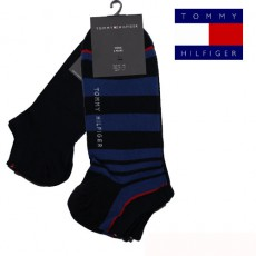 CHAUSSETTE INVISIBLE PACK 2 PAIRES STRIPE SNEAL MARINE TOMMY HILFIGER