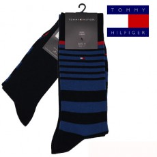 CHAUSSETTE PACK 2 PAIRES MARINE RAYURES MIXTES NAUTICAL STRIPE TOMMY HILFIGER
