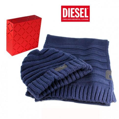 7558a25563de Diesel – coffret echarpe et bonnet navy - mas - Mengeneration.com