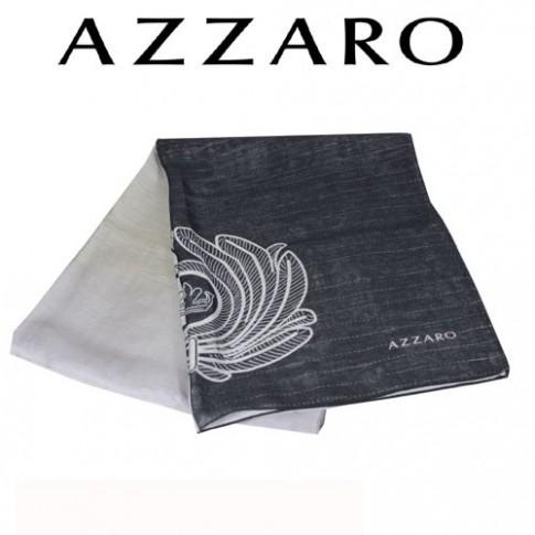 AZZARO - ECHARPE BRODEE ANTHRACITE EN VISCOSE