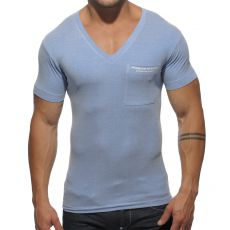 T-SHIRT BLEU SURF TS125 PIQUE V-NECK  ES COLLECTION