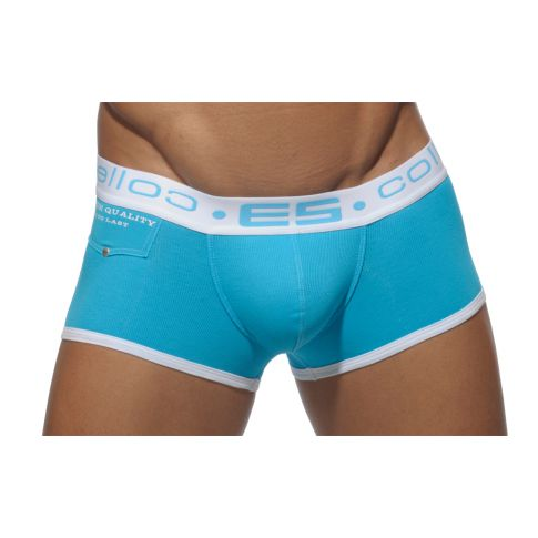 BOXER RIBBED TURQUOISE UN105 - ES COLLECTION