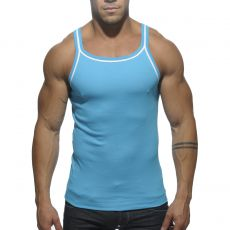 DEBARDEUR TURQUOISE DOUBLE PIPPING TS122 - ES COLLECTION