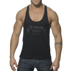 DEBARDEUR NOIR POWER GYM TS077 - ES COLLECTION
