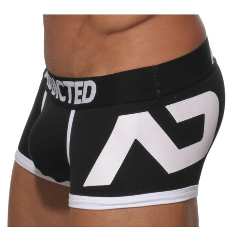 BOXER NOIR AD LOGO PUSH UP AD156 - ADDICTED