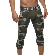 BOXER LONG 3/4 CAMOUFLAGE VERT UN092 - ES COLLECTION